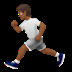 🏃🏾 person running: medium-dark skin tone Emoji on Apple Platform