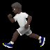 Person Running: Dark Skin Tone