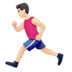 🏃🏻‍♂️ man running: light skin tone Emoji on Apple Platform
