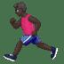 🏃🏿♂️ man running: dark skin tone Emoji on Apple Platform