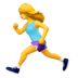 🏃‍♀️ woman running Emoji on Apple Platform