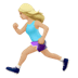 🏃🏼‍♀️ woman running: medium-light skin tone Emoji on Apple Platform