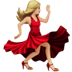 💃🏼 woman dancing: medium-light skin tone Emoji on Apple Platform