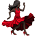 Woman Dancing: Dark Skin Tone