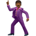 🕺🏾 man dancing: medium-dark skin tone Emoji on Apple Platform