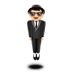 🕴🏻 man in suit levitating: light skin tone Emoji on Apple Platform