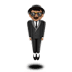 🕴🏽 man in suit levitating: medium skin tone Emoji on Apple Platform