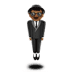 🕴🏾 man in suit levitating: medium-dark skin tone Emoji on Apple Platform