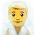 🧖‍♂️ man in steamy room Emoji on Apple Platform