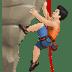Light Skin Tone Man Rock Climbing