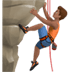🧗🏽‍♂️ man climbing: medium skin tone Emoji on Apple Platform