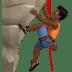 🧗🏾♂️ man climbing: medium-dark skin tone Emoji on Apple Platform