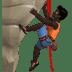 🧗🏿♂️ man climbing: dark skin tone Emoji on Apple Platform