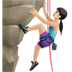Woman Climbing: Light Skin Tone