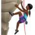 🧗🏾‍♀️ woman climbing: medium-dark skin tone Emoji on Apple Platform