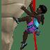Woman Climbing: Dark Skin Tone