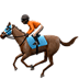 🏇🏿 horse racing: dark skin tone Emoji on Apple Platform