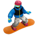 🏂🏿 snowboarder: dark skin tone Emoji on Apple Platform