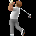 🏌🏽 person golfing: medium skin tone Emoji on Apple Platform