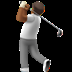 🏌🏾 person golfing: medium-dark skin tone Emoji on Apple Platform
