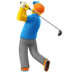 🏌️‍♂️ man golfing Emoji on Apple Platform