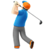 🏌🏻‍♂️ man golfing: light skin tone Emoji on Apple Platform