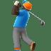 Dark Skin Tone Man Golfing