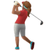 🏌🏽‍♀️ woman golfing: medium skin tone Emoji on Apple Platform
