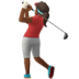 Woman Golfing: Medium-dark Skin Tone