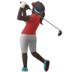 🏌🏿‍♀️ woman golfing: dark skin tone Emoji on Apple Platform