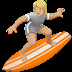 🏄🏼 person surfing: medium-light skin tone Emoji on Apple Platform