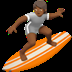 🏄🏾 person surfing: medium-dark skin tone Emoji on Apple Platform
