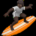 🏄🏿 person surfing: dark skin tone Emoji on Apple Platform
