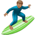 Man Surfing: Medium Skin Tone