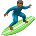 Man Surfing: Medium-dark Skin Tone