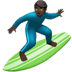 🏄🏿‍♂️ man surfing: dark skin tone Emoji on Apple Platform