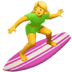 🏄‍♀️ woman surfing Emoji on Apple Platform