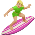 Medium Light Skin Tone Woman Surfing