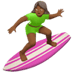 Medium Dark Skin Tone Woman Surfing