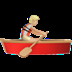 Medium Light Skin Tone Person Rowing Boat