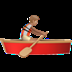 Medium Skin Tone Person Rowing Boat