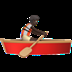 🚣🏿 person rowing boat: dark skin tone Emoji on Apple Platform