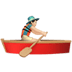 🚣🏻‍♂️ man rowing boat: light skin tone Emoji on Apple Platform