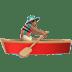 Medium Skin Tone Man Rowing Boat