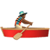 🚣🏾‍♂️ man rowing boat: medium-dark skin tone Emoji on Apple Platform