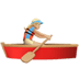Woman Rowing Boat: Medium-light Skin Tone