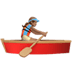 🚣🏽‍♀️ woman rowing boat: medium skin tone Emoji on Apple Platform