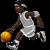 ⛹🏿 person bouncing ball: dark skin tone Emoji on Apple Platform