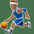 ⛹🏽‍♂️ man bouncing ball: medium skin tone Emoji on Apple Platform