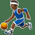 ⛹🏾‍♂️ man bouncing ball: medium-dark skin tone Emoji on Apple Platform